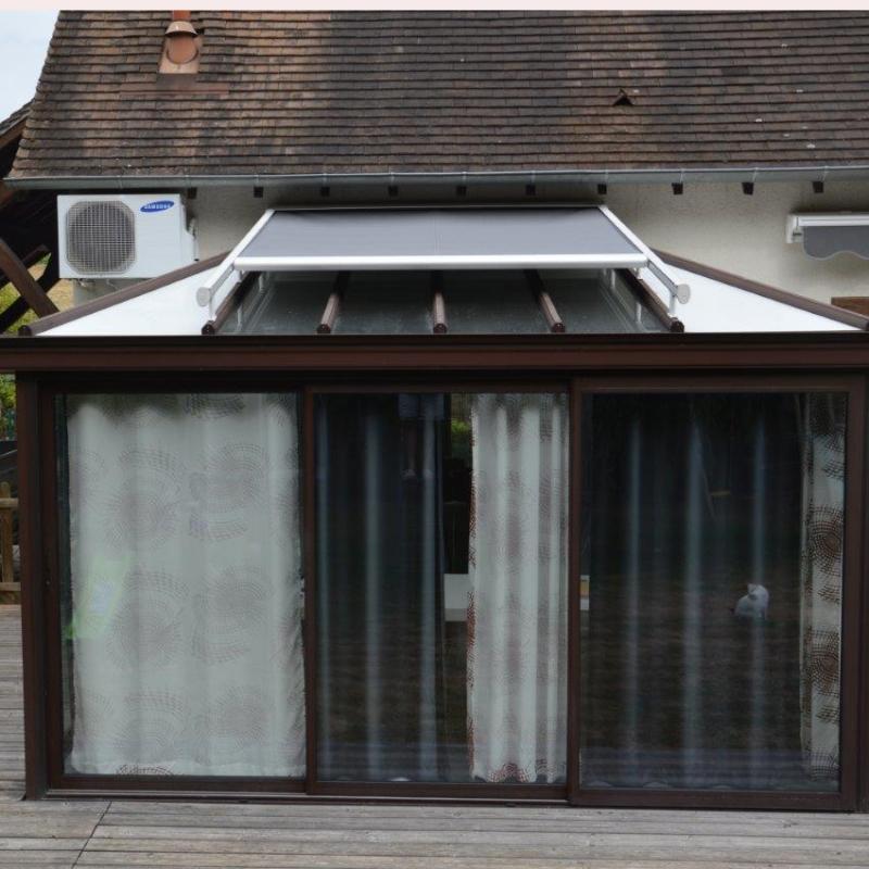 Store pour toit de pergola ou v randa toile acrylique jecr emonstore - Store de toiture pour pergola ...
