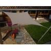 Voile carré Taupe 300 x 300 cm