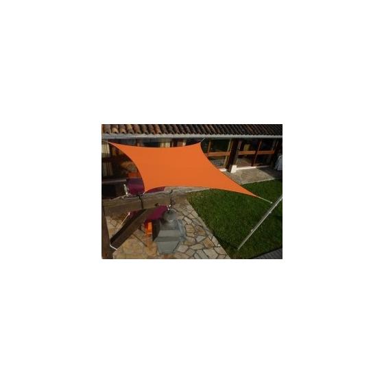 Voile carré Orange 300 x 300 cm