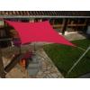 Voile carré Framboise 300 x 300 cm