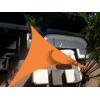 Voile triangulaire Orange 300 x 300 x 300