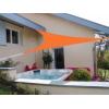 Voile triangulaire orange 400 x 400 x 400