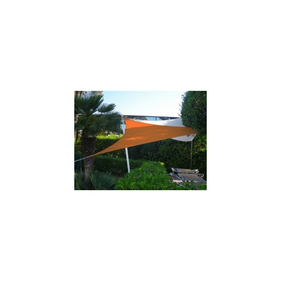 Voile triangulaire Orange 500 x 500 x 500