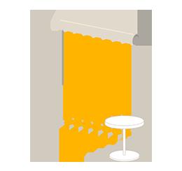 Bandes verticales lames 89 mm