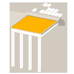 Store de toit veranda ou  structure en bois